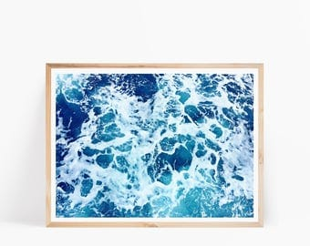 Ocean Print, Ocean Printable, Coastal Decor, Ocean Wall Art, Sea Print, Beach Print, Ocean Art, Beach Printable, Blue Water Print, Sea Art