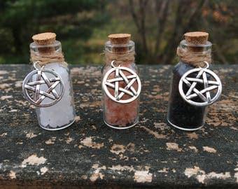 Mini Witches Ritual Salt | Sea Salt | Black Salt | Pink Himalayan Salt | Set of 1, 2 or 3 |
