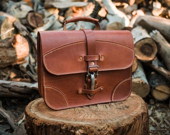 """Leather Briefcase 13.5"""" 