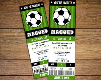 soccer party invitation