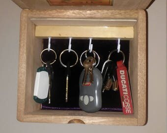 Motorcycle Cigar Box Key Holder