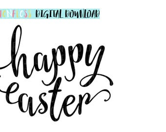 Happy Easter SVG, Easter SVG, Easter Cutting File, Easter Cricut File, Easter Vinyl Design, Easter Font File, Easter Font Design, SVG File