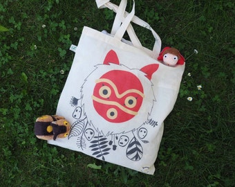 Tote bag Mononoke Him (Princess Mononoke) Studio Ghibli