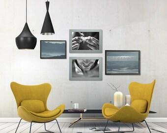 Black And White Portrait Photo, Coastal Living Room Art, Beach Gallery Wall, Beach Photo Shoot, Minimal Wall Art Set, Home Wall Decor Bundle