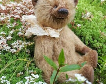 Artist Teddy bear OOAK mohair teddy bear vintage toy plush sawdust soft sculpture teddy bear to order classic teddy bear collectible