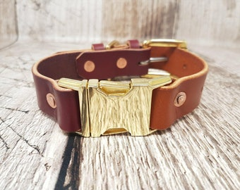 Leather Side-Release/Quick-Release Buckle Dog Collar