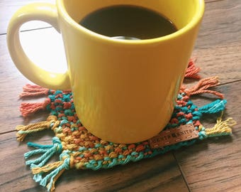 Mug Rugs - Coasters Set - Santa Fe - Modern Coasters - Home Decor