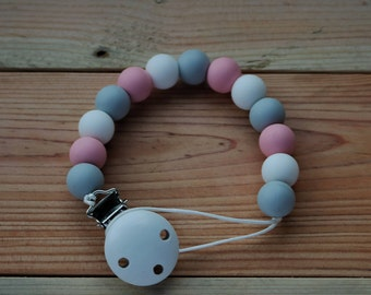 Pacifier clip, soother safer, dummy chain, BPA free silicone soother safer, dual purpose dummy chain,