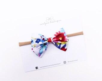 Watercolor Floral | Baby headband set, Baby bow Headbands, Small Bows, Baby Bows, Newborn headbands, Nylon Headbands, Baby hair bows,