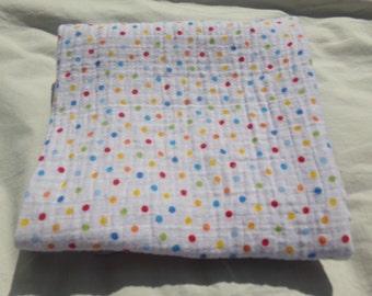 Primary Color Polka Dot Swaddler Baby Blanket