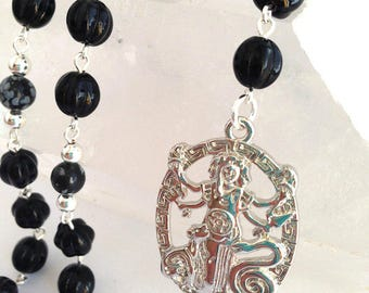 Large Hecate Rosary // Prayer Beads // Pagan // Wiccan