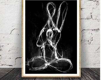 art et collerction abstrait noir et blanc Design graphique, affiche imprimable, Téléchargement instantané numérique, noir et blanc
