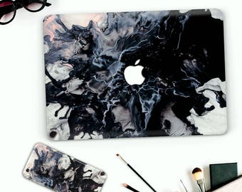 HOT->> Macbook and iPhone cases black ink case macbook pro 13 2016 & iphone 7 plus case paint splash pro 15 case + iPhone Case Bulk offer