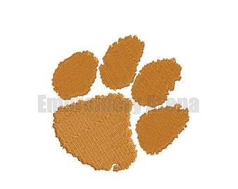 Football embroidery design - (Clemson Tigers) - instant DOWNLOAD digital file