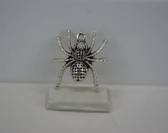 Spider Charm, Large Spider Charm, Set of 3 Spider Charms, Halloween Charm