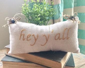pillow, mini pillow, farmhouse pillow, throw pillow, rustic pillow, shabby chic pillow, embroidered pillow, decor pillow,wall décor