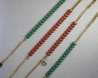 Woman and girl ear chain bracelet