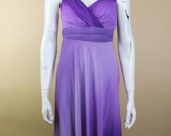 Vintage Prom Dress - Purple Dress - Purple Prom - Christmas Dress - Xmas Dress - Wedding Party - Birthday Party - Stunning Dress