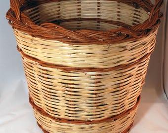 "Traditional Sicilian Willow ""Vimini"" Log Basket"