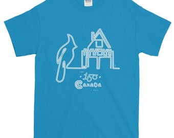 150th Year Canadiana Cottage Life T-Shirt | Canada150 | Illustration Art Gift Tee