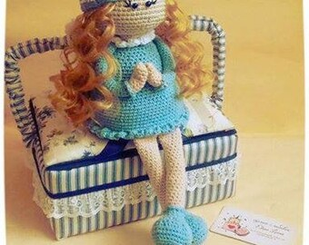 Crochet Doll PDF Pattern Amigurumi Doll Pattern Tilda Girl  Angel