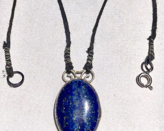 Sterling silver x Lapis lazuli necklace