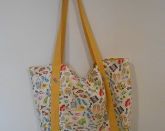 Travel tote, Vacation bag, Beach tote, Beach bag, Summer tote, Beach lover gift, Mother's Day gift, Gift for her, Birthday gift, Book bag