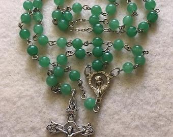 Semi-precious Green Aventurine Rosary