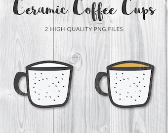 Coffee Cup Clip Art, Coffee Clip Art, Coffee Mug Clip Art, Camping Cup Clip Art, Coffee PNG, Coffee Graphic, Coffee Cup PNG