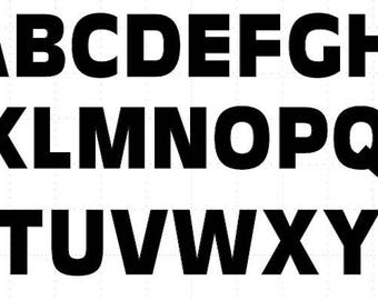 25 Die Cut Bold Capital/Lowercase Alphabet Letter Cutouts, Many Sizes, Colors (Pack of 25 Letters of your Choice)