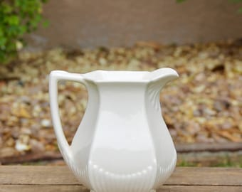 Ironstone Pitcher - Ironstone Cream - Ironstone Jug - English Ironstone - White Ironstone Pitcher - WM Adams Ironstone - Vintage Ironstone