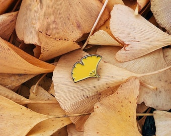 Good Life Ginkgo Biloba Leaf Enamel Pin