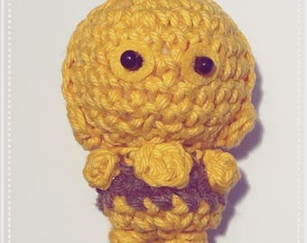 C3PO, Amigurumi, crocheted figurine, presentidea, Star Wars, Druide, movie character, galaxy
