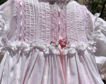Vintage Baby Lace Heirloom Party Dress and Matching Slip