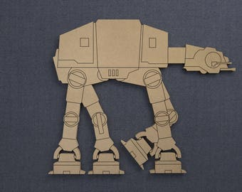 Star Wars, ATAT, Wood Cutout, Unfinished Sign