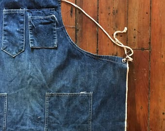 1940's Selvedge Denim Hercules Machinist Apron by Sears