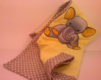 Cotton Flannel Baby Elephant Blanket for Cribs,beds,carseats,strollers,boys,girls,toddlers,babies,infants