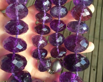 18mm-30mm huge Genuine amethyst beads necklace