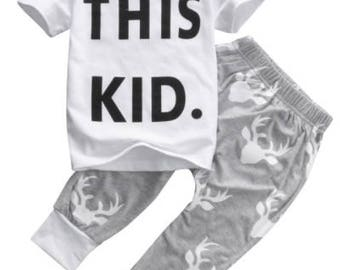 This Kid shirt and pants for baby boys ages 9m, 12m, 2t, 3t, 4t