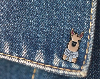 BUY 1, GET 1 Random Pin Free!  Llama Enamel Pin No Prob-Llama Lapel Pin Animal Pin Cute Pin