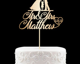 Customized Wedding Cake Topper Personalized Wedding Cake Topper, Mr and Mrs Cake Topper with children Bride and Groom with Daughter 61