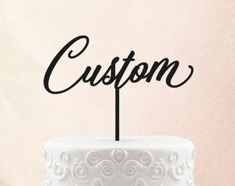 Custom Wedding Cake Topper Initials Personalized Cake Topper for Wedding Custom Personalized Wedding Cake Topper Custom Cake Topper 33