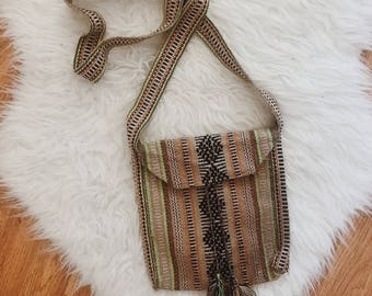 Boho Mexican handbag | vintage Mexican cross body bag | boho bag | festival | boho festival bag | colorful vintage tassel bag