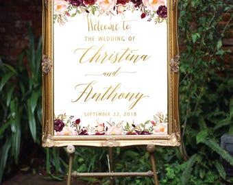 Welcome Wedding Sign, Welcome Wedding Printable, Wedding Sign, Wedding Poster Board, DIY, Template, Signs, Wedding welcome signs, #27