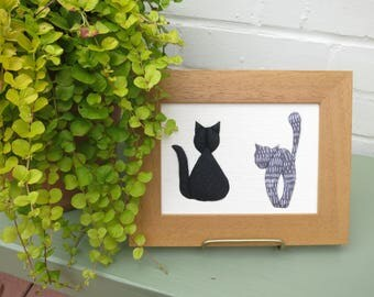 Cats - Handmade Textile Cat picture