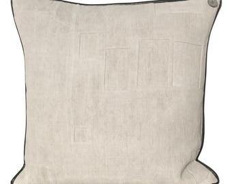 "Antique German Grain Sack Pillow - from 1914 -  21 x 21"""