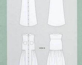 Grainline Alder Shirtdress Pattern - Sizes 0-18