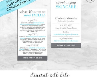 Australia Rodan and Fields Mini Facial Card & Business Card Personalized Digital Files | What If Essentials