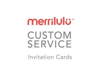 Custom Service - Digital Invitation Card