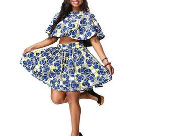 Kaya Africain Skirt and blouse